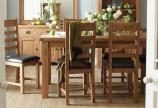 Bộ bàn ăn gỗ Sồi Mỹ nhập khẩu (Oak)