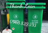 Thùng rác nhựa 240L có bánh xe thu gom rác tiện lợi. lh 0963.839.593 Ms.Loan