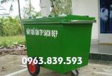 Thùng rác ngoài trời, thùng rác nhựa 120L, thùng rác 240L có bánh xe rẻ. 0963.839.593 Ms.Loan