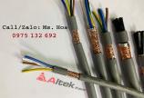 Cáp điều khiển 3 lõi 3x1.5, 3x1.0, 3x0.75, 3x0.5 có/không lưới chống nhiễu