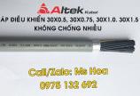Báo giá cáp điều khiển 30x0.5, 30x0.75, 30x1.0, 30x1.5 chống nhiễu và không chống nhiễu