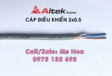 Cáp điều khiển 2x1.5 không lưới, có lưới chống nhiễu Altek Kabel
